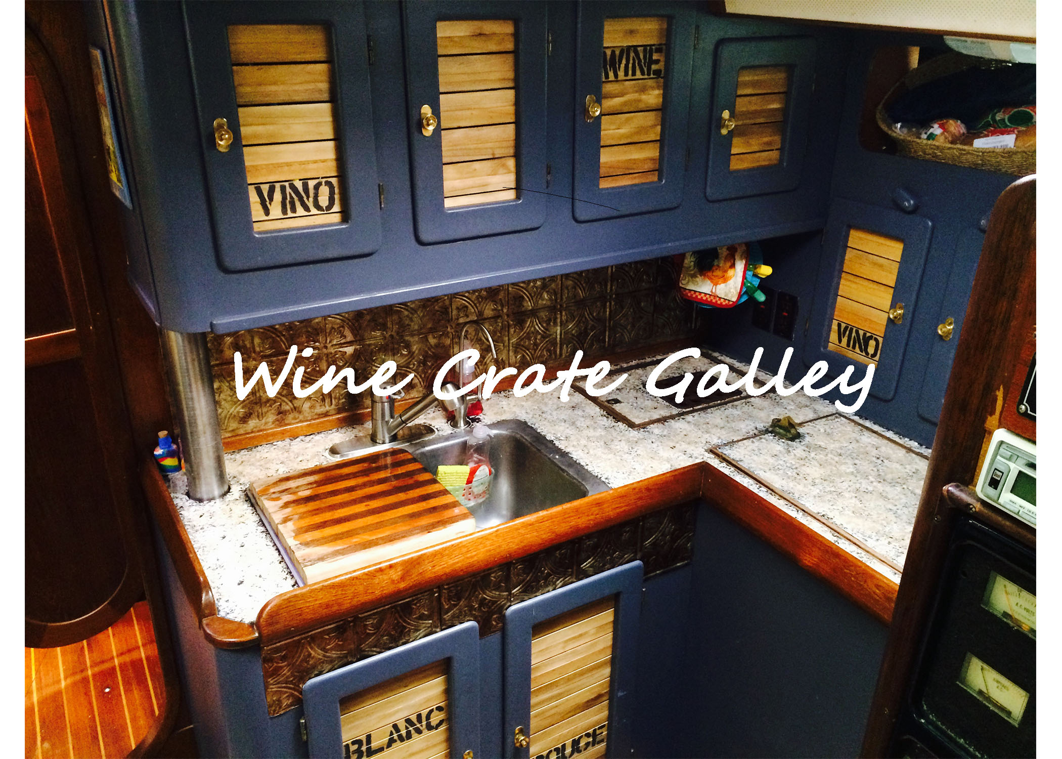 Boat Interior Design Inspiration U2013 Wine Crate Galley